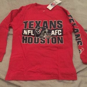 HOUSTON TEXANS NFL LONG SLEEVE YOUTH T-SHIRT NWT